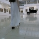 Musical Pianist Walk To Piano in a Concert Hall. Steadycam Shot. Nulled