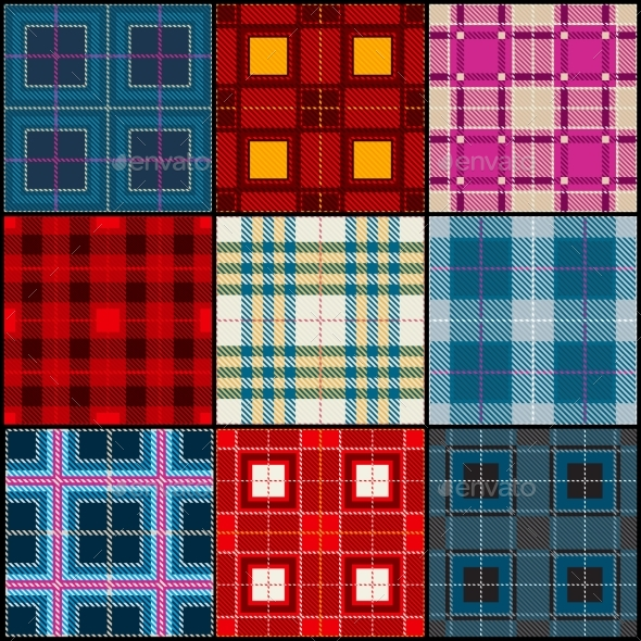 Plaid Tartan, British, Buffalo Seamless Vector - Backgrounds Decorative