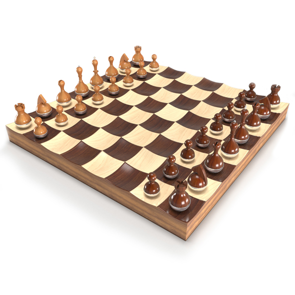 Wobble chess set - 3DOcean Item for Sale
