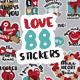 LOVE Stickers - GraphicRiver Item for Sale