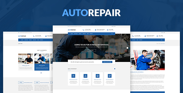 AutoRepair – Car Mechanic – PSD Template for Mechanic Workshop
