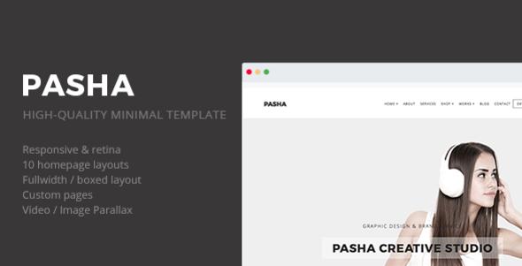 Pasha - Minimal Creative Responsive Site Template - Portfolio Creative