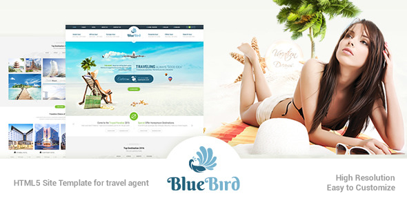 Blue Bird | Responsive Tours Travel Site Template - Travel Retail