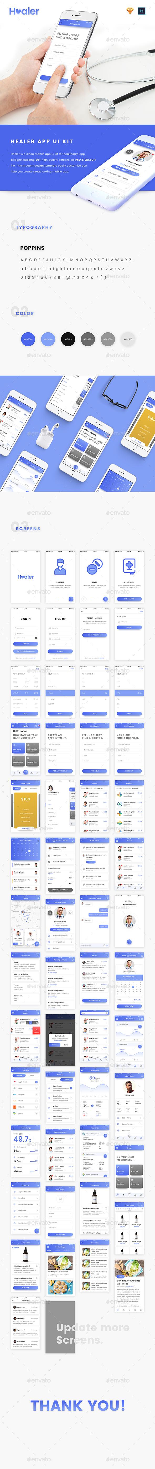Healer UI Kit - User Interfaces Web Elements