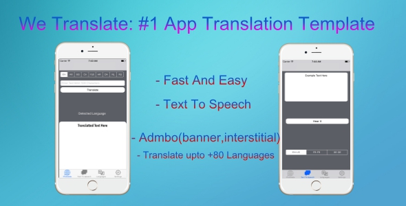 We Translate : #1 Translation App with 90 languages , TEXT to speech ,in-app and admob