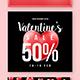 Valentine Sale Instragram