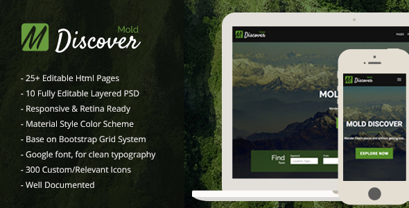 Mold Discover – Travel Bootstrap Template