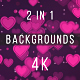 Valentine Hearts Backgrounds - VideoHive Item for Sale
