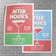 Happy Hours A3 Poster - GraphicRiver Item for Sale