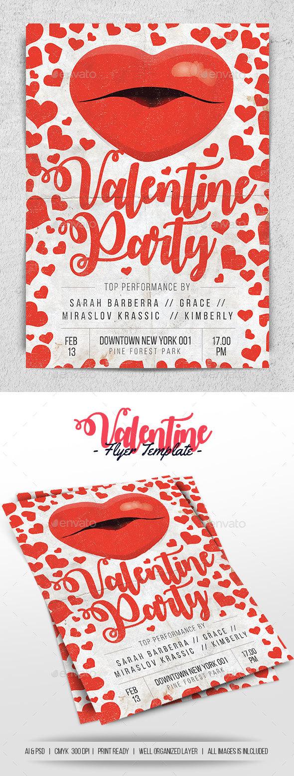Valentine Flyer - Holidays Events