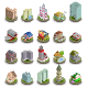 Isometric Buildings City Icons - GraphicRiver Item for Sale
