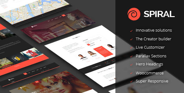 Spiral - Inovative Multipurpose Theme - Creative WordPress