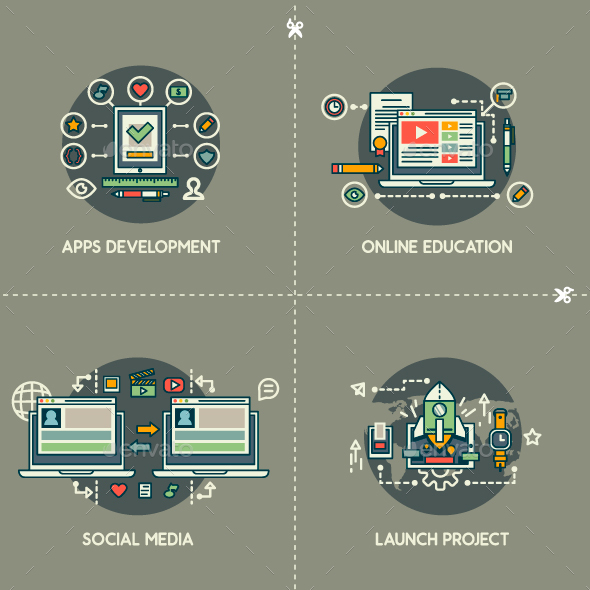 Apps Development, Online Education, Social Media, Launch Project - Technology Conceptual