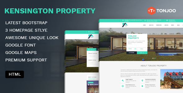 Kensington Property –  Agency and Single property HTML Template
