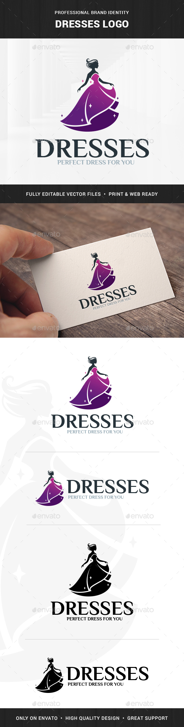 Dresses Logo Template - Humans Logo Templates