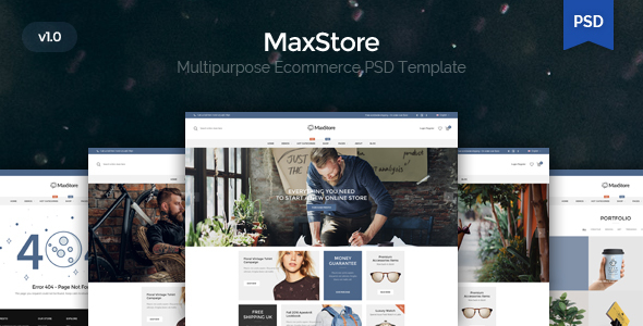 Maxstore – Multpurpose Ecommerce PSD Template