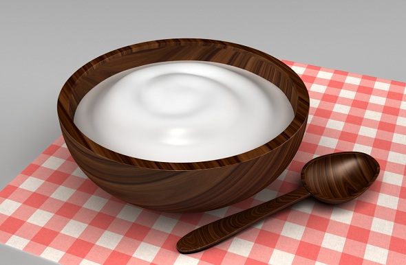 Yogurt Wood Bowl - 3DOcean Item for Sale