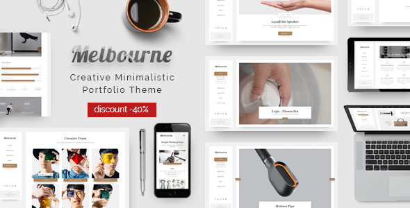 Melbourne – Responsive Minimal Portfolio Theme
