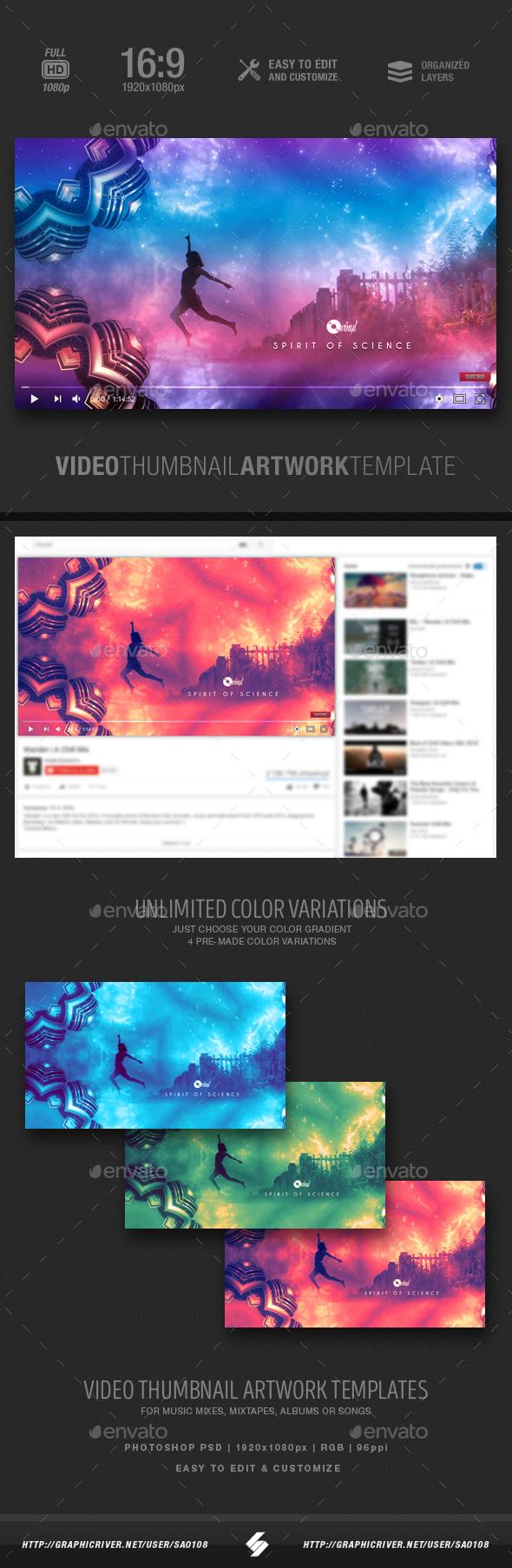 Spirit of Science - Video Thumbnail Artwork Template - YouTube Social Media