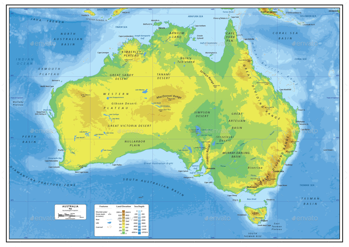 Australia Layered Vector Map