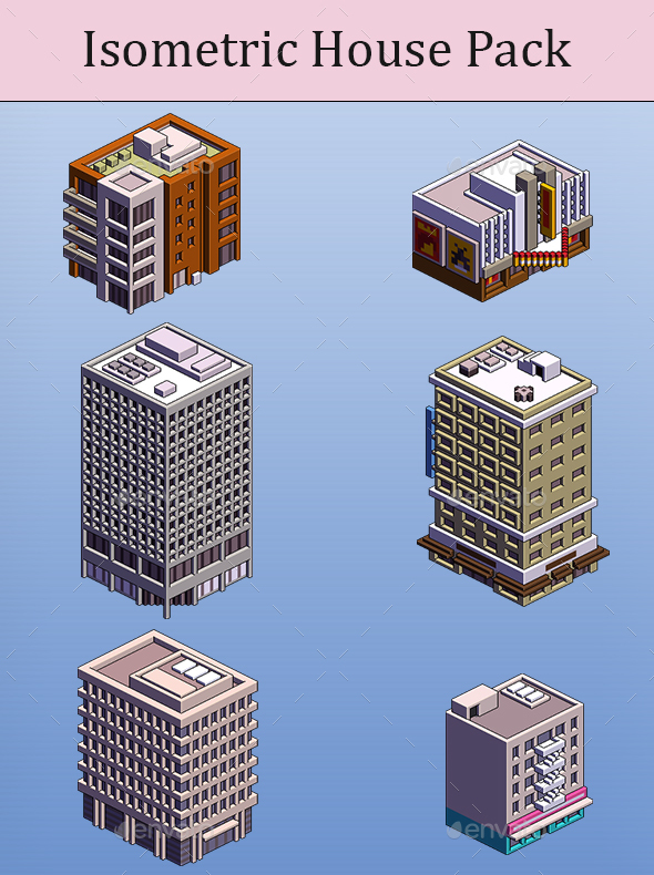 Isometric House Pack - Miscellaneous Game Assets