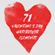 71 Valentines Day Watercolor Elements - VideoHive Item for Sale