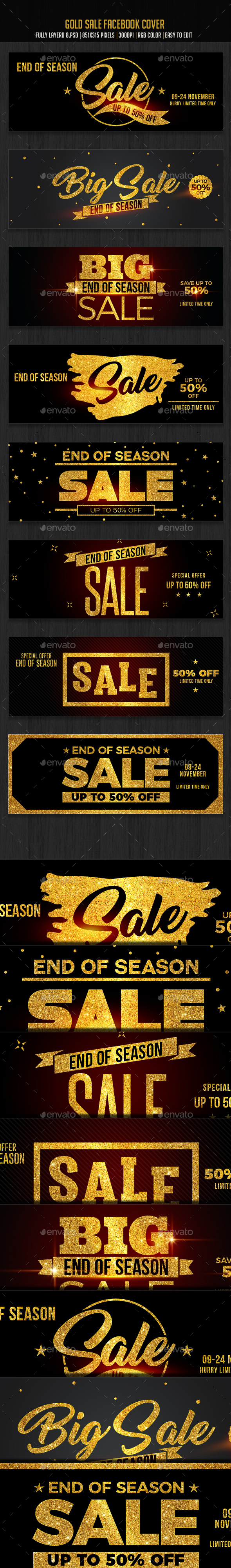Gold Sale Facebook Cover