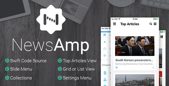 NewsAmp - Swift News Application - CodeCanyon Item for Sale