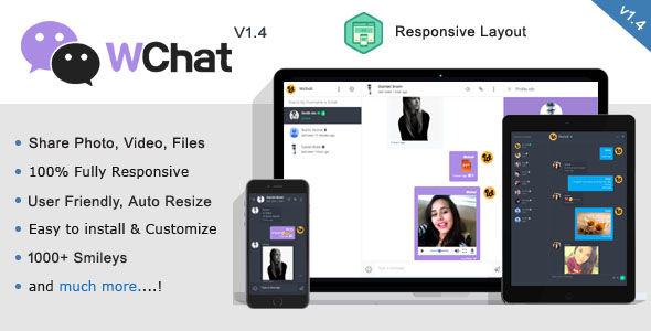 Wchat - Fully Responsive PHP AJAX Chat Script - CodeCanyon Item for Sale
