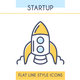 Startup Outline Icons Set - GraphicRiver Item for Sale