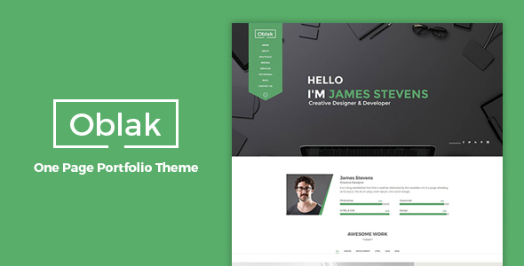 Oblak – One Page Portfolio WP Theme