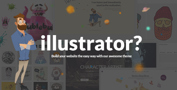 Illustrator – A Portfolio Theme for Illustrators, Designers, and Artists