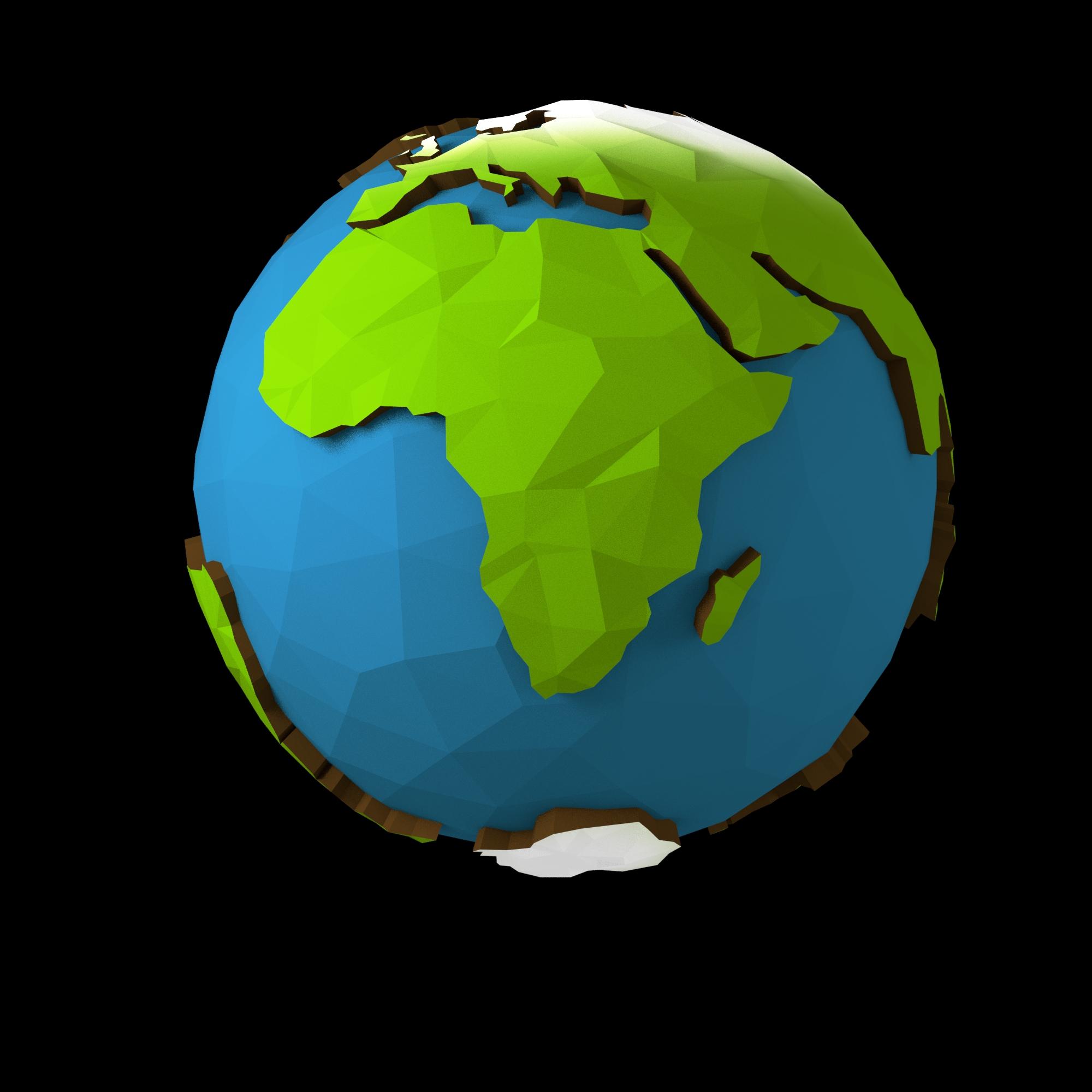 Low Poly Earth By Klockwork Studios 3docean