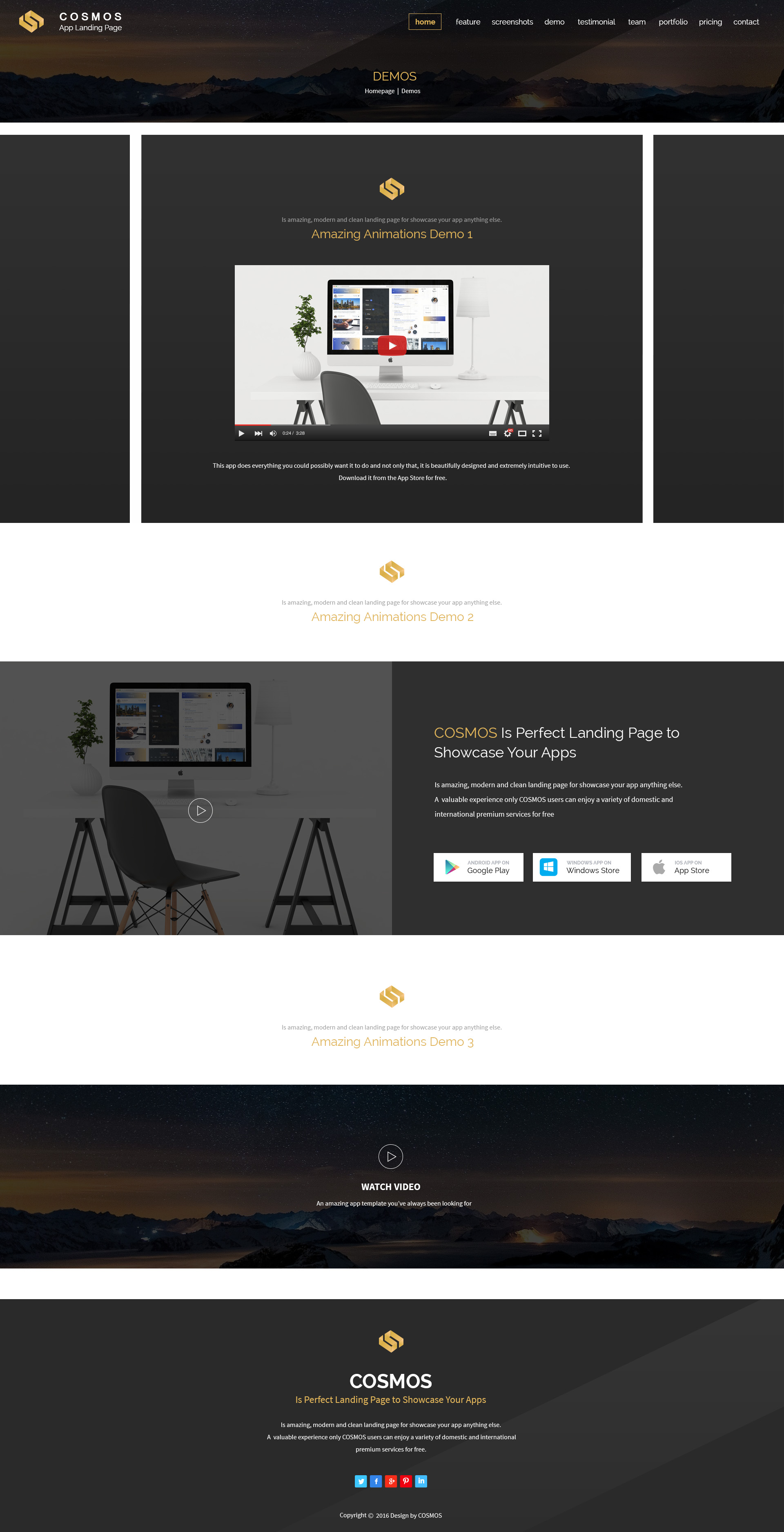 Cosmos - One Page App WordPress Theme by PIXArtThemes | ThemeForest