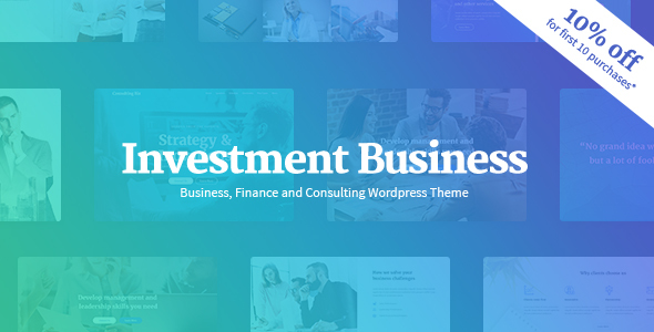 Investment Business - Finance  Investment Consulting WordPress Theme - Business Corporate