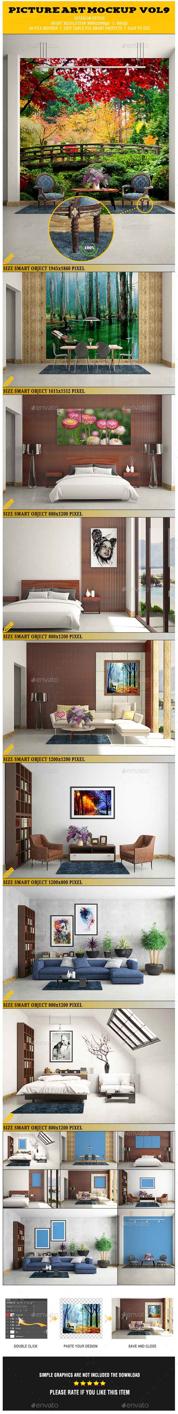 Picture Art Mockup [Vol 9] - Posters Print