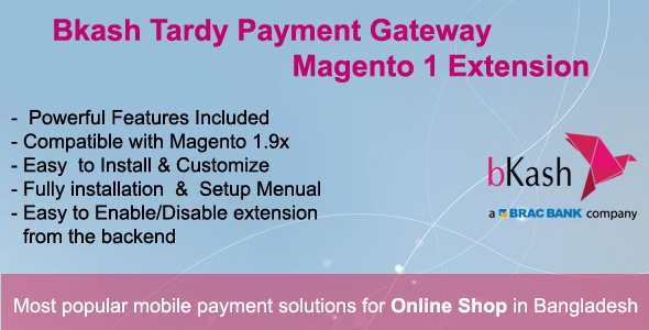 Bkash Tardy Payment Gateway Magento1 Extension - CodeCanyon Item for Sale
