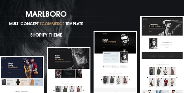 Marlboro Drag And Drop – Responsive- Shopify Theme