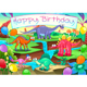 Happy Birthday Card with Dinosaurs - GraphicRiver Item for Sale