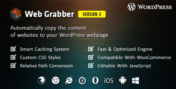 Web Grabber - WordPress HTML Scraping Plugin - CodeCanyon Item for Sale