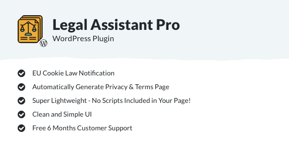Legal Assistant Pro - EU Cookie Law, Terms & Privacy Generator - CodeCanyon Item for Sale