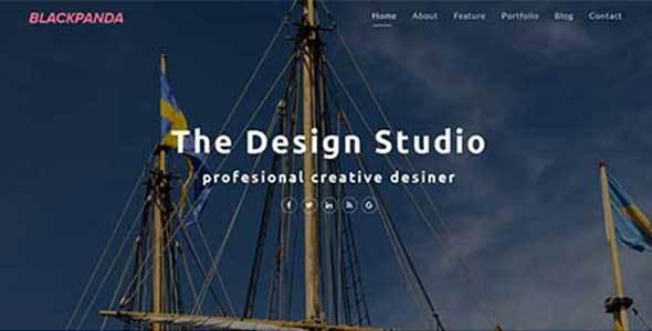 Blackpanda – Creative Portfolio Template - Creative Site Templates