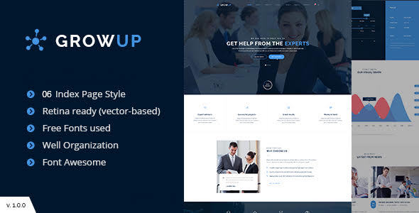 GrowUp Business & Financial WordPress Theme - Business Corporate