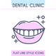 Dental Clinic Outline Icons Set - GraphicRiver Item for Sale