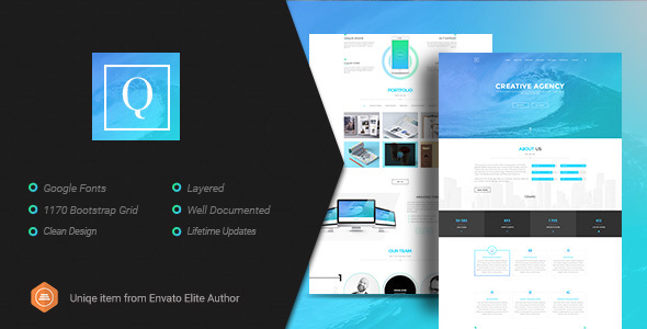 Quanty – Creative Agency and Portfolio PSD Template