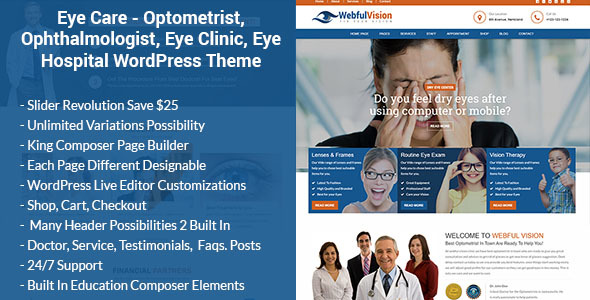 Eye Care – Optometrist and Medical WordPress Theme