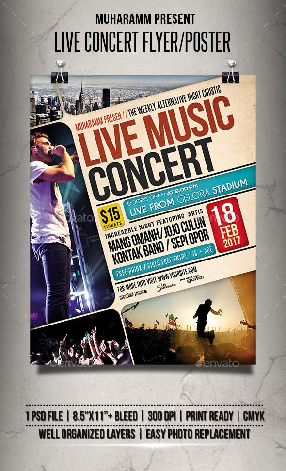 Concert Flyer Dj Concert Flyer  Flyers Dj Concert Flyer  Flyer