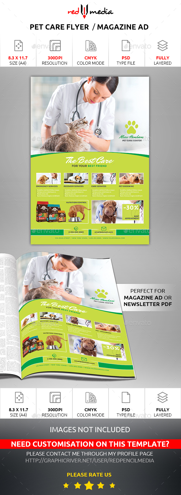 Pet Care Flyer / Magazine AD - Flyers Print Templates