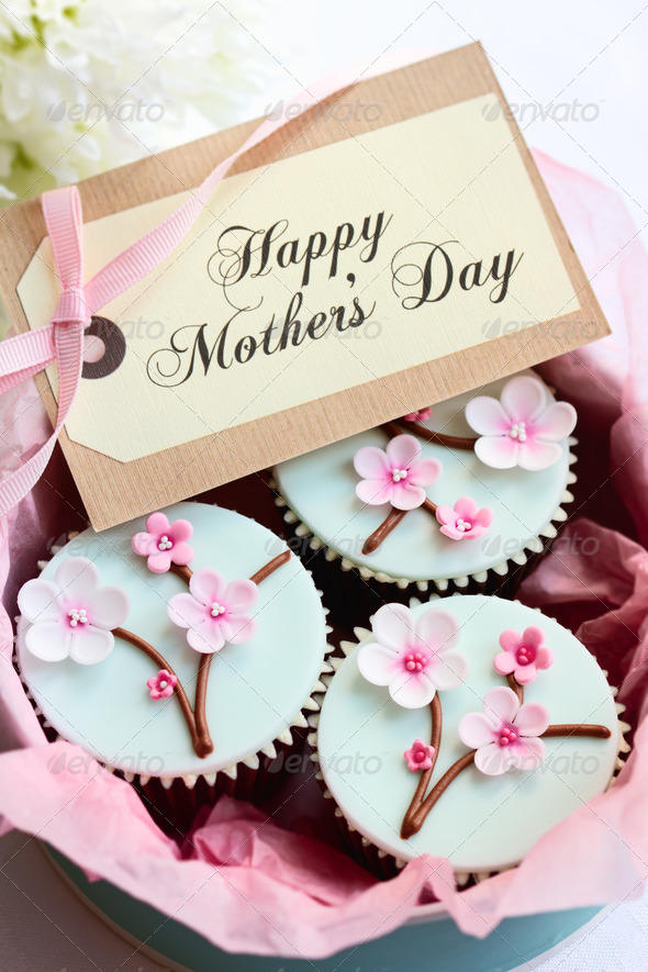 Mother's day cupcakes - Stock Photo - Images