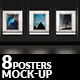 8 Interior Poster Mock-ups - GraphicRiver Item for Sale